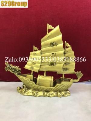 Thuyền buồm to bằng đồng cao 27cm