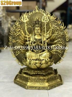 Thiên Thủ Thiên Nhãn bằng đồng cao 42cm