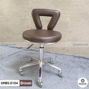 Ghế xoay phun xăm cao cấp có tựa màu nâu Hi-Mec HMBS-0104