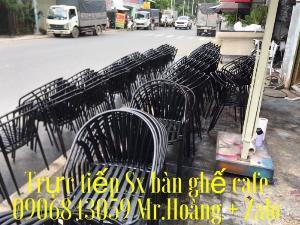 Bàn ghế sắt cafe Mỹ nghệ giá xưởng.