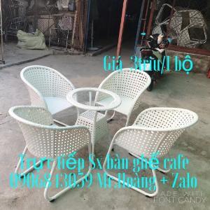 Bộ bàn ghế nhựa giả mây giá xưởng- nội thất Nguyễn hoàng Sài Gòn