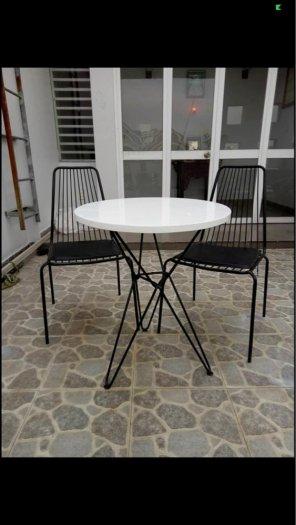 Bàn ghế sắt nệm Cafe giá tốt - nội thất Nguyễn Hoàng