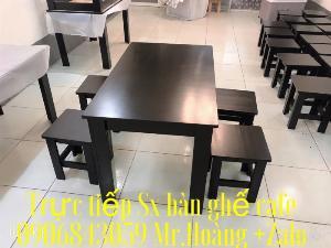 Bộ bàn ghế gỗ Sơn đen quán ăn- nội thất Nguyễn hoàng