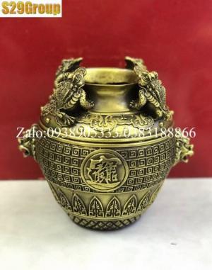 Hũ Cóc Tài Lộc bằng đồng vàng nhỏ