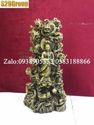 Phật cửu rồng bằng đồng cao 39cm