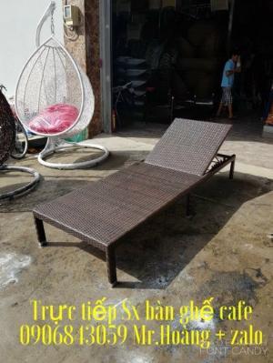 Giường tắm nắng giả mây- nội thất Nguyễn hoàng