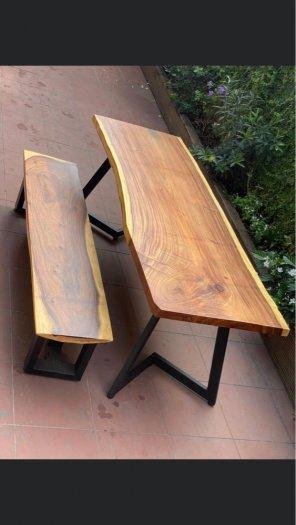 Bàn ghế gỗ me Tây giá tốt- nội thất Nguyễn hoàng