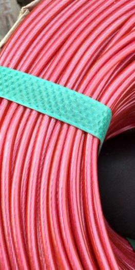 Dây cáp cảnh báo an toàn,cáp trang trí sự kiện,cáp thép bọc nhựa màu đỏ 10 ly