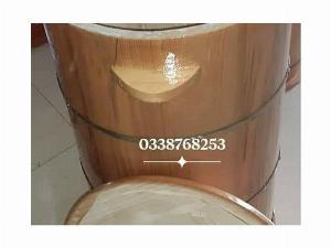 Thùng đựng gạo gỗ Thông 60 kg.