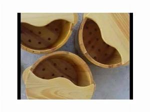Chậu ngâm chân gỗ Thông Massage