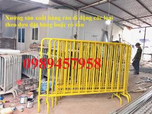 Bán hàng rào sơn phản quang, Hàng rào di động phân luồng giao thông