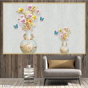 Tranh 3D - tranh gạch bình hoa