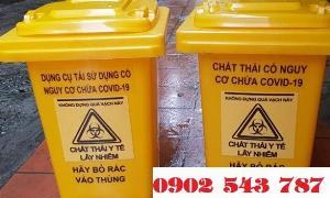 Thùng rác đựng chất thải có nguy cơ chứa covid 19 120 lít