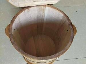Thùng gỗ Sồi đựng gạo  10 kg.