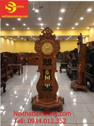 Đồng hồ cây gỗ hương giá rẻ