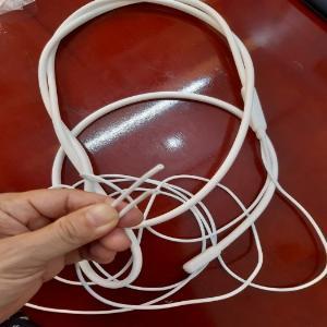 Điện trở Dây điện trở xả ống silicone, màu trắng, tròn, dài 1.5m 220V- 60W