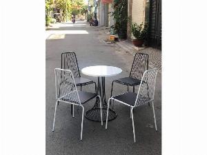 Bàn ghế sắt cafe ngoài trời giá tại kho