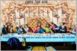 Tranh 3D bàn tiệc thánh-tranh gạch men