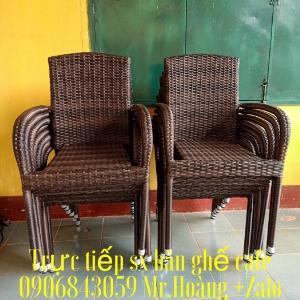 Thanh lý ghế nhựa mây xuất khẩu mới 99%- Nội Thất Nguyễn hoàng