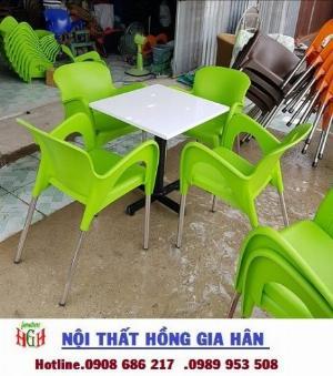 Bộ bàn ghế nhựa cafe