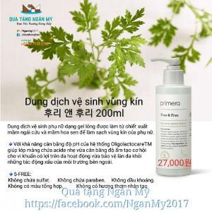 Dung dịch vệ sinh vùng kín primera- free & free 200mls