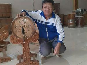Thùng rượu gỗ sồi dáng nằm 20 lít