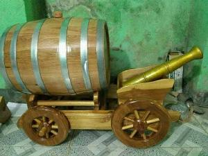 Thùng rượu gỗ sồi xe kéo 100 l.