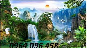 Tranh gạch 3d cảnh sông nước thiên nhiên - SG65