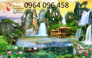 Tranh 3d - tranh gạch 3d - gạch tranh 3d phong cảnh 96XN