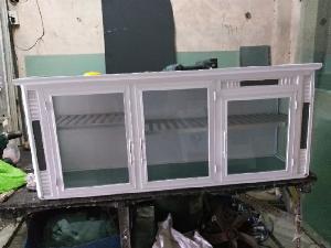Tủ bếp nhôm treo tường màu trắng sứ