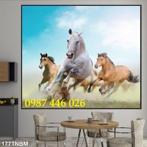 Tranh ngựa, gach tranh bát mã HP8232