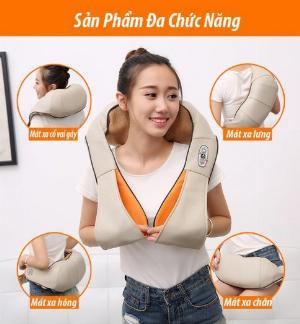 Máy massage giảm đau Ayosun Hàn Quốc:máy mát xa cầm tay 11 đầu,đai mát xa vai cổ gáy hồng ngoại