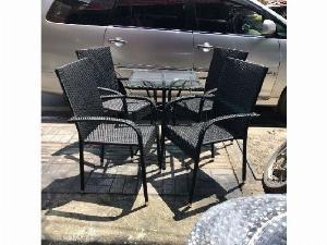 Bàn ghế cafe ba sô đen giá rẻ