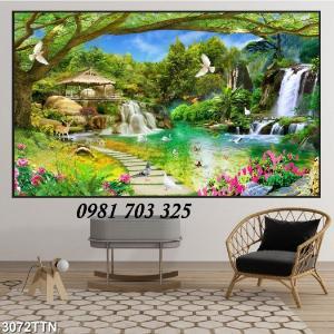 Gạch tranh 3D phong cảnh, tranh đẹp trang trí phòng