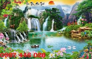 Tranh phong cảnh, gạch tranh, tranh ốp tường, gạch trang trí HP6898