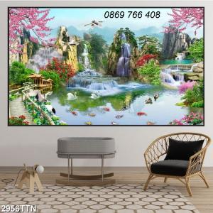 Tranh gạch phòng khách-tranh trang trí