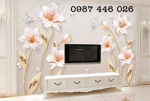 Tranh 3d, tranh gạch men ốp tường phòng khách HP08998