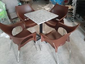 Bàn ghế cafe vi sa inox cao cấp 304 giá