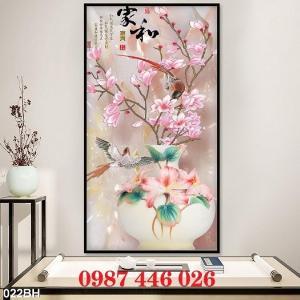 2021-03-03 07:58:54  13  Gạch tranh 3d, tranh ốp tường bình hoa Hp6022 1,200,000