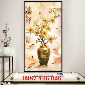 2021-03-03 07:58:54  12  Gạch tranh 3d, tranh ốp tường bình hoa Hp6022 1,200,000