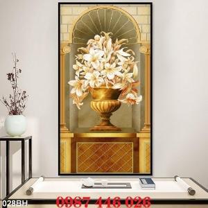 2021-03-03 07:58:54  11  Gạch tranh 3d, tranh ốp tường bình hoa Hp6022 1,200,000