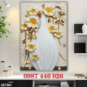 2021-03-03 07:58:54  10  Gạch tranh 3d, tranh ốp tường bình hoa Hp6022 1,200,000
