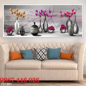 2021-03-03 07:58:54  9  Gạch tranh 3d, tranh ốp tường bình hoa Hp6022 1,200,000