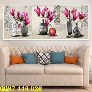 2021-03-03 07:58:54  8  Gạch tranh 3d, tranh ốp tường bình hoa Hp6022 1,200,000