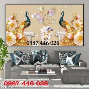 2021-03-03 07:58:54  4  Gạch tranh 3d, tranh ốp tường bình hoa Hp6022 1,200,000