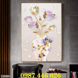 2021-03-03 07:58:54  3  Gạch tranh 3d, tranh ốp tường bình hoa Hp6022 1,200,000