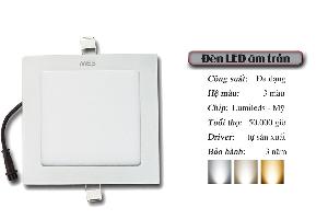 Đèn LED Panel âm trần 16w vuông cao cấp