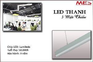 Đèn Led thanh treo 3 mặt chiếu 24W 1m2 chất lượng cao