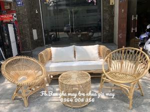 Bộ bàn ghế sofa mây tre, sofa salon mây tre đan
