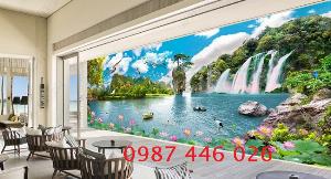 Mới- Tranh gạch men ốp tường trang trí phòng khách HP7202